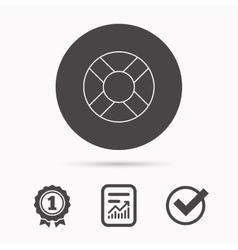 Lifebuoy icon Lifebelt sign vector image