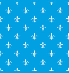 lily heraldic emblem pattern seamless blue vector image