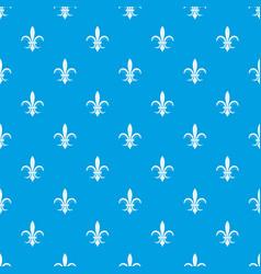 Lily heraldic emblem pattern seamless blue vector