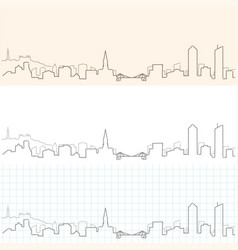 Lyon hand drawn skyline vector