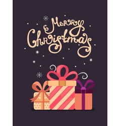 Merry Christmas greeting cards vector image