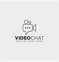 Movie chat media video talk entertainment simple vector