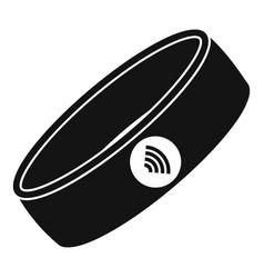 Nfc smart bracelet icon simple style vector