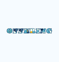 Offering concept word art vector