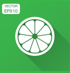 orange fruit icon in flat style orange citrus vector image