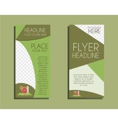 Organic Brochure Flyer design Layout template vector