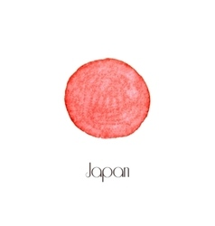 Painted watercolor Japan flag Stylish background vector image