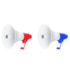 red and blue megaphone vector image