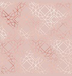 rose gold elegant geometric pattern vector image