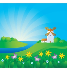 Rural background vector
