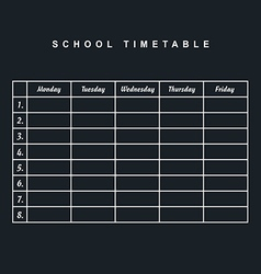 school timetable icon illstration part two on vector image