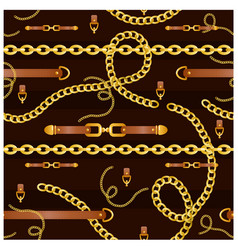 seamless pattern with belts vector image