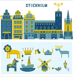 Set of design elements in Stockholm vector