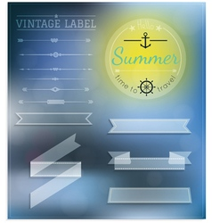 Set Of Vintage summer hipster Badges vector image