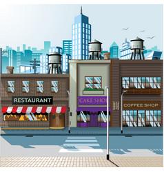 shopping street daylight vector image