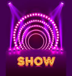 show light podium vector image