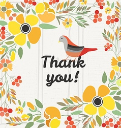 Signature Thank you with red brown and orange vector