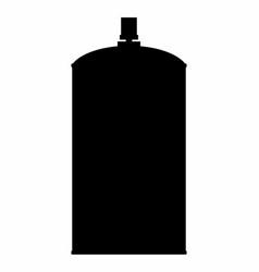 spray dark silhouette vector image