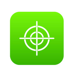 target crosshair icon digital green vector image