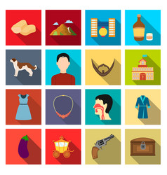trade business hobby and other web icon in flat vector image