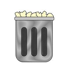 Trash icon image vector