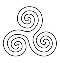 triskelion or triskele symbol sign icon black vector image