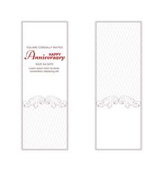 two elegant vintage vertical banners for vector image