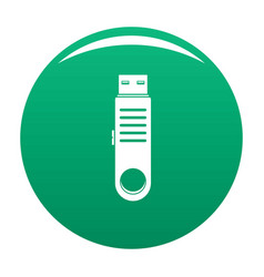 usb icon green vector image