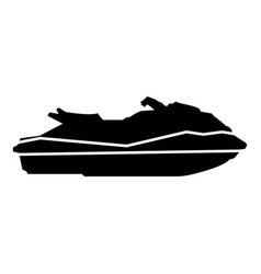waverunner icon black color flat style simple vector image