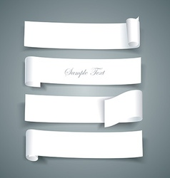 White paper roll ripped design collections banners vector