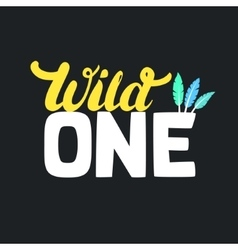 Wild one design for batee print first birthday vector