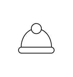 winter cap outline icon element of winter sport vector image