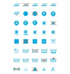 clothing care symbols vector image vector image