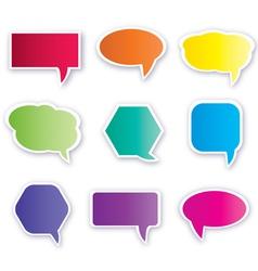 colorful speech bubbles vector image vector image