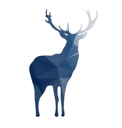 Deer silhouette of geometric shapes vector image vector image