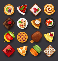 dessert icon set-2 vector image vector image