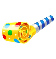 Party Horn Blower vector image vector image