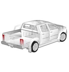 Pickup ifographics cutaway vector image vector image