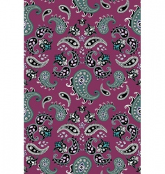 retro paisley pattern vector image