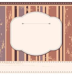 Scrap cardvintage design vector image