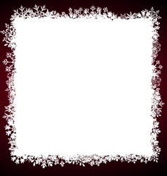Winter Square Frame with Snowflakes vector image