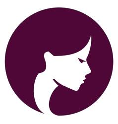Beautiful girl logo design template Spa or vector image
