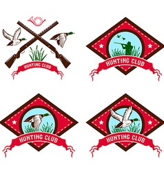 Duck hunting club vector