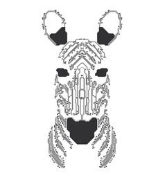 electronic zebra vector image