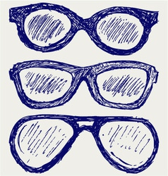 Glasses silhouettes vector image vector image
