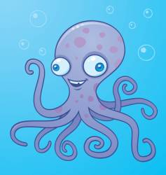 silly octopus vector image