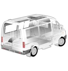 Van ifographics cutaway vector image vector image