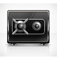 Metal safe on white vector image vector image