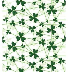 seamless flower shamrock vector image