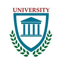 University emblem with laurel wreath vector image vector image